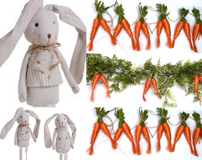Carrot garland, easter carrot garland,Easter Garland for Mantle, Easter decor for fireplace , Easter greenery garland ,