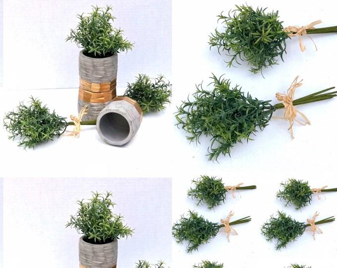 Artificial Rosemary bundle Rosemary in ceramic vase arrangement Modern Farmhouse Greenery Decor, Farmhouse Centerpiece