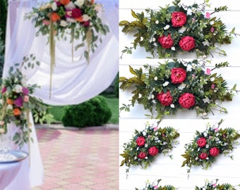 Wedding arch flowers, Sweetheart table flowers, Wedding Arch Decorations, Wedding Arch Swag, Wedding Backdrop, Silk Arch Flowers,