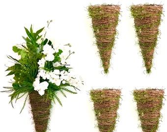 Orchid Planter Twig Basket outdoor hanging planter hanging baskets Door baskets Wall Planter Wall baskets succulent pot  cactus pot  bonsai