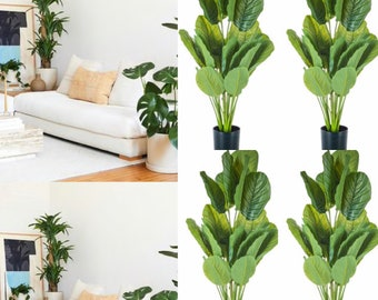 46 Tall Artificial potted plants Silk potted plans  Floor Plant Potted tree  Artificial Silk tree  Palm Tree Potted Faux Potted Houseplant