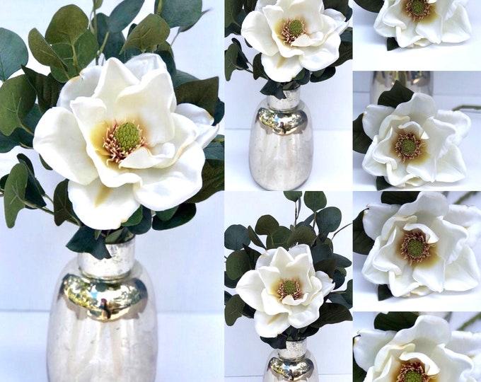Magnolia flower , Magnolia stem ,Artificial Magnolia Floral Stem , magnolia decor