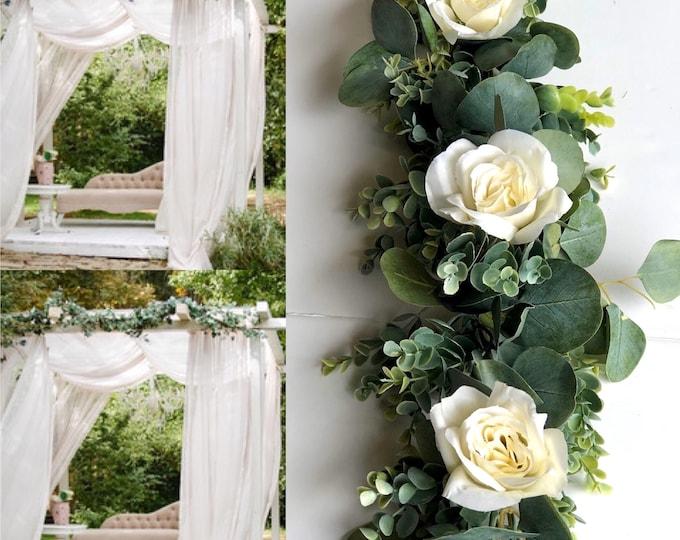 Silver Dollar Eucalyptus Garland , Wedding Floral Centerpiece, Wedding Backdrops,Table Runner Rustic Bridal Wedding Garland Nursery Garland