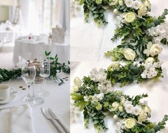 6 Ft White Baby's Breath Garland, Baby's Breath Garland, Wedding Garland ,White garland, Wedding Decor , Eucalyptus Garland