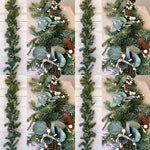 Eucalypts and Pine Garland, Artificial Pine Christmas Garland, Pine Garland with Pinecones, Christmas garland ,Christmas pine garland