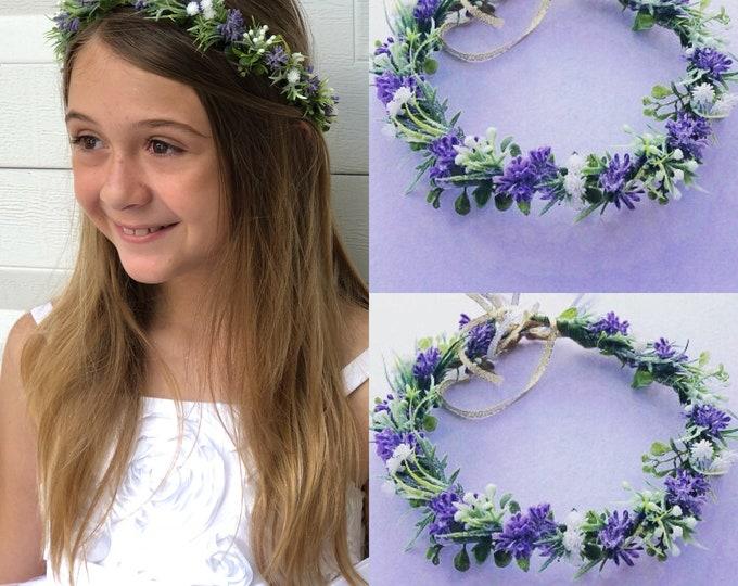 Baby's breath crown ,  succulent flower crown , Baby's breath Hair Wreath , flower girls crowns  ,  Baby's breath wedding