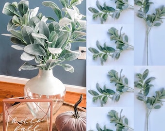 28 tall Lamb Ear Stems Silk Lambs ear flowers Artificial Lambs ear artificial greenery plant lambs ear garland faux lambs ear stem