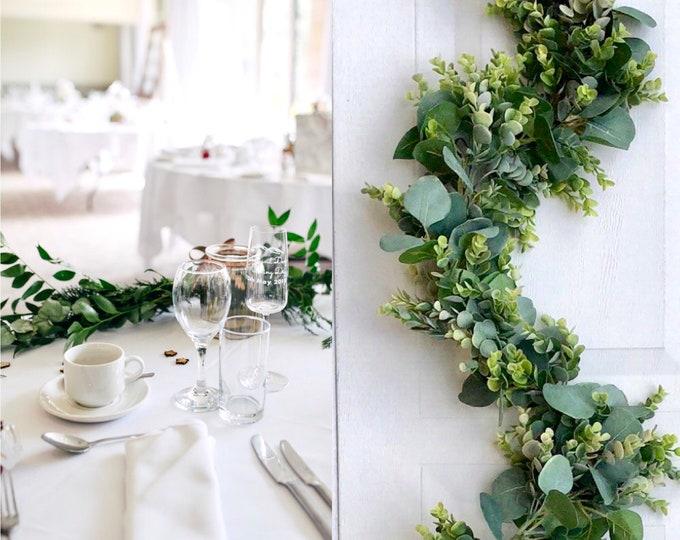 Eucalyptus Garland, Wedding Arch Garland, Wedding Flowers, Greenery Garland, Wedding Backdrops, Greenery Backdrop, Silver Dollar Eucalyptus
