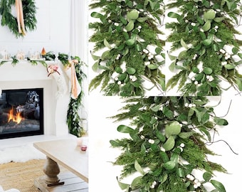 Mistletoe Garland White Mistletoe Garland Farmhouse Christmas Decorations Mistletoe Christmas Garland Christmas Mistletoe Decoration