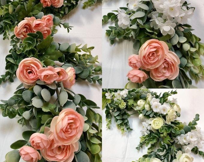 Wedding Garland, Eucalyptus Garland, Backdrop, Boho Wedding, Wedding Decor, Silk Flower Backdrop, Wedding Backdrop, Wedding Flowers,
