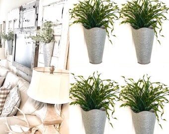 Wall sconce with greenery / Farmhouse Living Room Decor, Hanging Planter with Greenery,Sconce with Flowers, Country Wall Decor/wall sconce