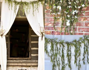 Jasmine garland Wedding Arch Garland Cascading Garland Natural Hanging Vines Greenery garland Fall garland Winter garland