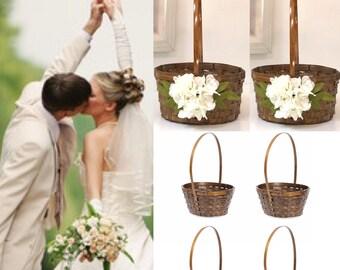 Large plain basket/Easter basket /wedding basket/Bamboo basket/Small basket /Flower girl basket/Wedding basket/