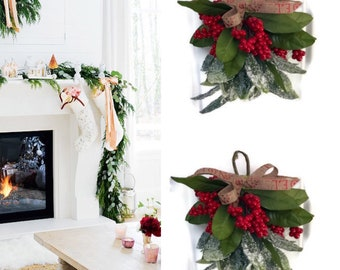 Mistletoe, Rustic Christmas Mistletoe , Mistletoe kissing ball, Christmas Mistletoe, Mistletoe Ornament Holiday Decor, Mistletoe Decor,