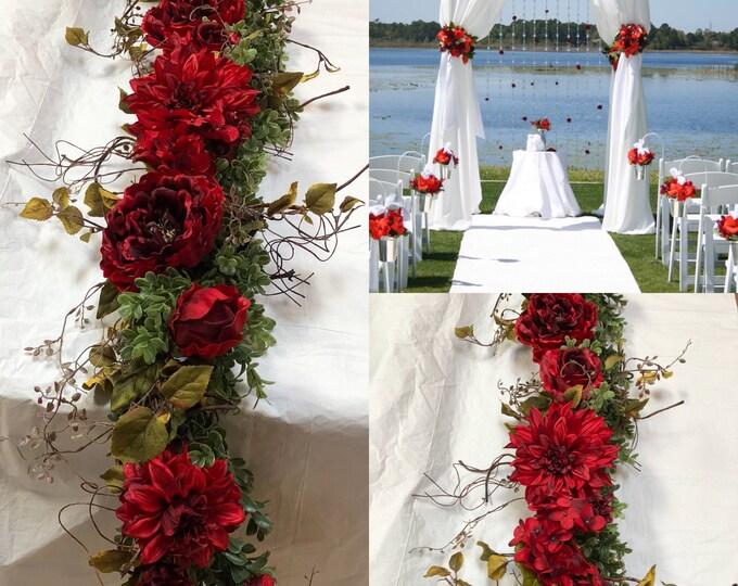Chuppah Flowers, Wedding Chuppah garland ceremony chuppah wedding backdrop wedding flowers wedding arch flowers wedding greenery Etsy