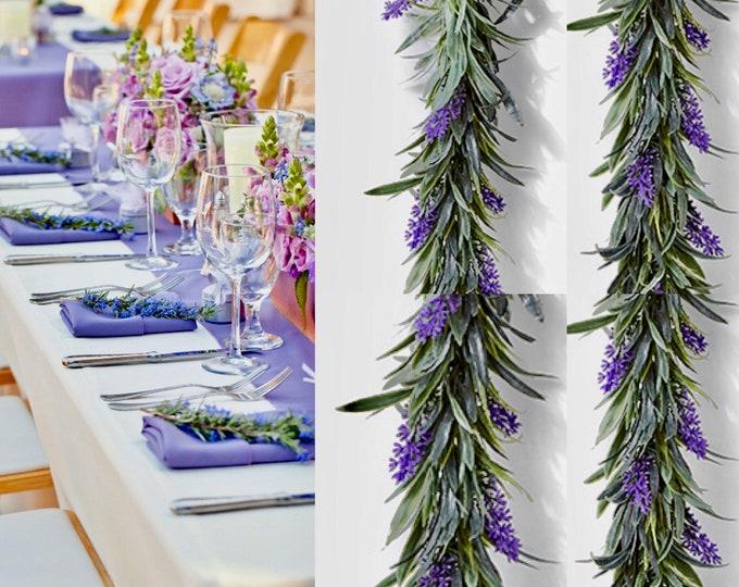 Lavender garland, faux wedding garland, lavender wedding, garland wedding, garland backdrop, lavender decor, lavender wreath