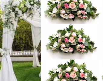 Blush pink arch flowers/ Wedding Arch Flowers , Silk Arch Flowers, Wedding Arbor flowers , Wedding Ceremony Arch, Wedding Gazebo ,