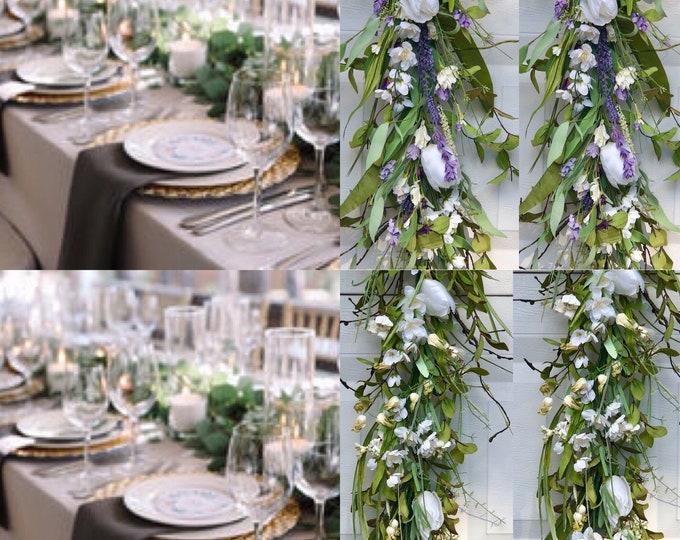 Spring Garland , Spring flower Garland, Easter Table decorations, tulip flower garland,