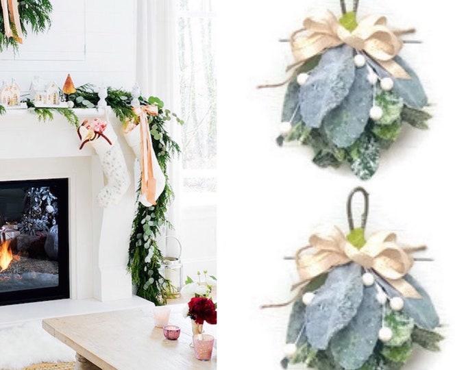 White Mistletoe / Christmas Mistletoe, White Berry Mistletoe, Mistletoe Christmas ornament, Mistletoe Kiss ,Mistletoe Ball ,Faux Mistletoe