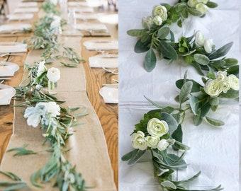 Wedding Garland - Greenery Garland - Lamb's ear  Garland - Eucalyptus Garland - Wedding Decorations
