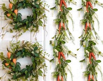 Easter Garland , Carrot Garland, Easter Carrot Wreath, Easter Carrot Garland, Easter Garland for Mantle, Easter Decorations for fireplace