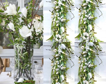 Spring Garland , Spring flower Garland, Easter Table decorations, tulip flower garland,