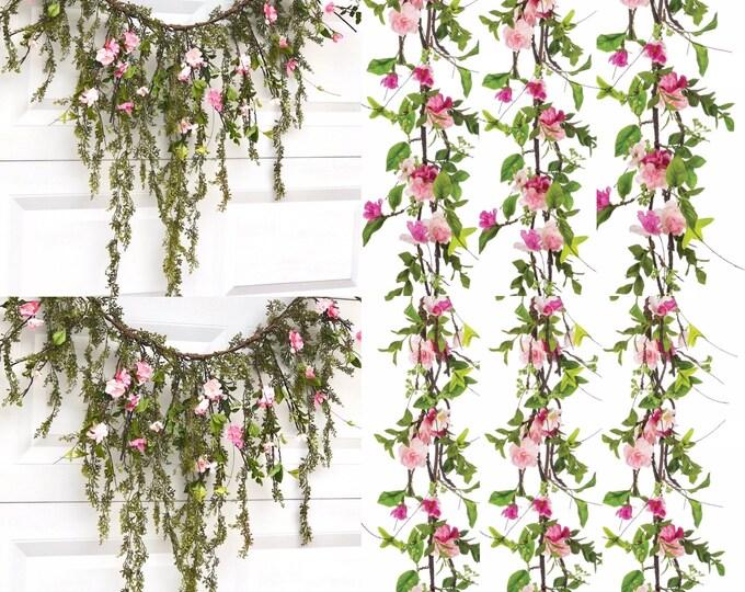 Cherry blossom garland,  Artificial Cherry Blossom Garland , Cherry Blossom Hanging Vine, Natural Hanging Vines