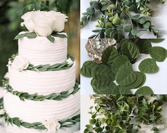 Set 24 Eucalyptus table scatter / wedding toss petal/ vase/ lantern, basket filler / farmhouse tray accent, table runner/ faux float flower