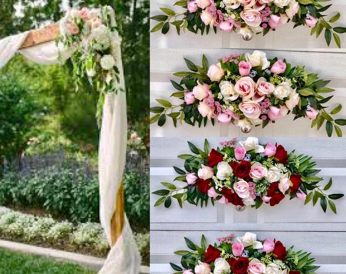 Blush pink arch flowers/ Wedding Arch Flowers , Silk Arch Flowers, Wedding Arbor flowers , Wedding Ceremony Arch, Wedding Gazebo ,