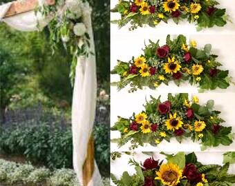 Wedding Arch Sunflower Bouquet sunflower wedding flowers Sunflower garland Sunflower Wedding Table Centerpieces sunflower backdrop decor