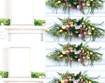 Easter egg swag, mantel swag garland for easter, Easter egg wreath ,Easter Egg Centerpiece,