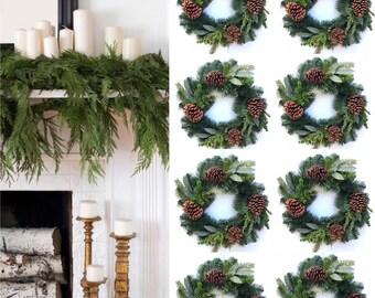 Christmas Door wreath Wreath for Mantle Christmas  door wreath FARMHOUSE CHRISTMAS WREATH Evergreen door wreath Pine Door Wreath