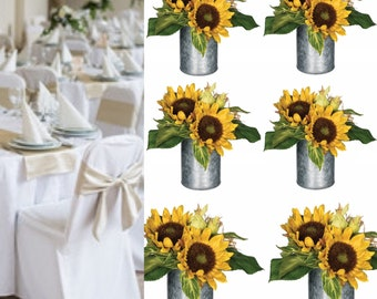 Sunflower table centerpiece, Sunflower  vase, sunflower party decorations , Sunflowers in pots ,Sunflower wedding decorations