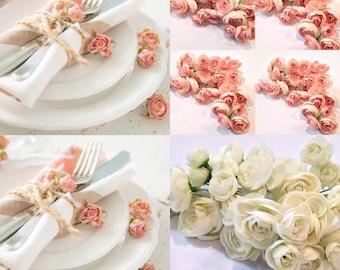 Ranunculus Flowers Blush Pink, Artificial Flowers, Silk Flowers, Millinery, Ranunculus Buds. Flower Heads. Floral Supplies,Hat Etsy