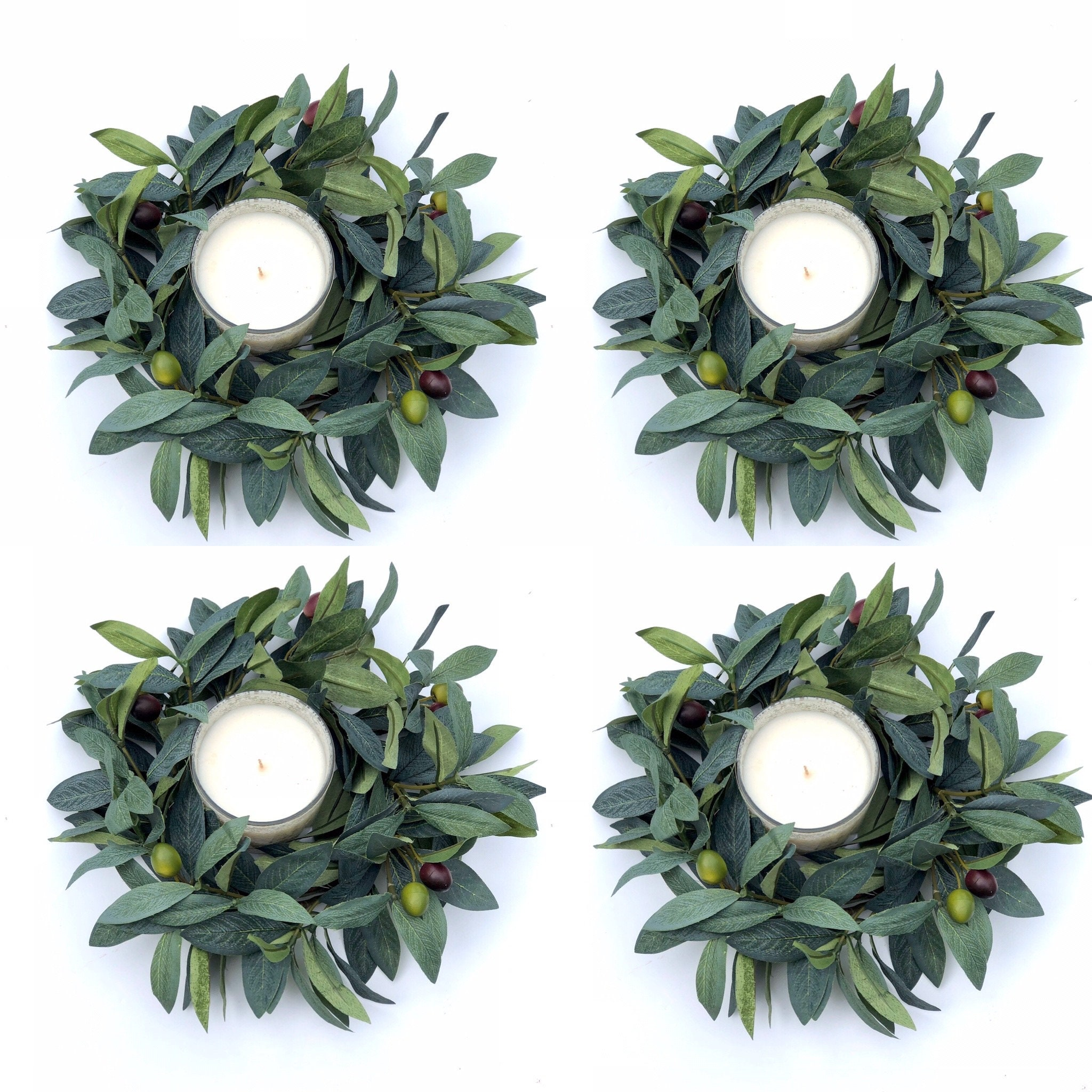 Candle Ring Eucalyptus Wreath Greenery Wreath Small Wreath Lamb S Ear Wreath Wedding Decor Table Decor Farmhouse Centerpiece