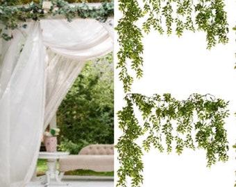 Cascading Garland, Greenery Garland, Rustic Arch Decor, Rustic Wedding, Vine Garland,Wedding Arch, Gazebo,Natural Hanging Vines Fall garland