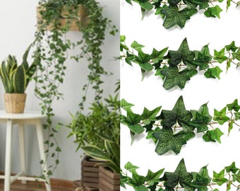 15 Feet  Artificial ivy Garland Vines for Room Decor Jungle Party Backdrop Artificial Greenery Garlands for Wedding Arch Ivy greenery decor