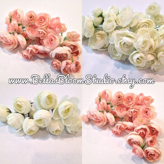 Ranunculus flowers blush pink artificial flowers silk etsy image 0 mightylinksfo