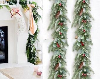 Christmas Garland, Holly Garland, Staircase Garland , Mantle garland, Pine garland, Christmas Decoration, Mantle Decor ,