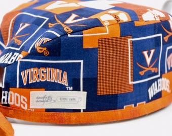 c63b6a233f60a Men's scrub hat, UVA Wahoo, fitted scrub hat
