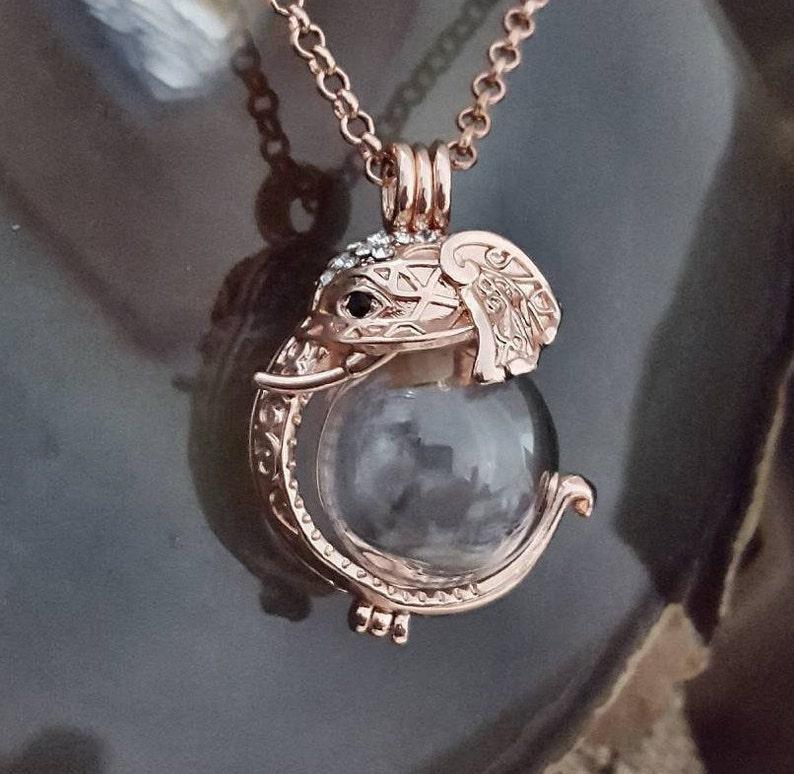 Urn Jewelry Rose Gold Elephant Locket  Elephant Urn Pendant Elephant Urn Necklace Ganesh Locket Cremation Jewelry Memprial Locket