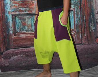 3/4 Ballonhose Haremshose Pumphose Sarouel Baggy Hose Hippie Goa