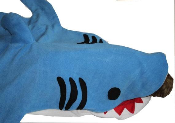 Großer Hai Schlafsack Grau Oder Blau Hai Für Erwachsene | Etsy