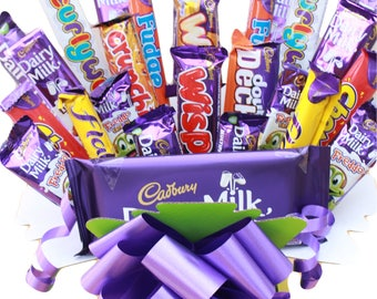 Cadbury Chocolate Bouquet - Sweet Hamper - Birthdays, Father's Day, Weddings, Special Occasions, Anniversary, Graduation, Farewell, Get Well