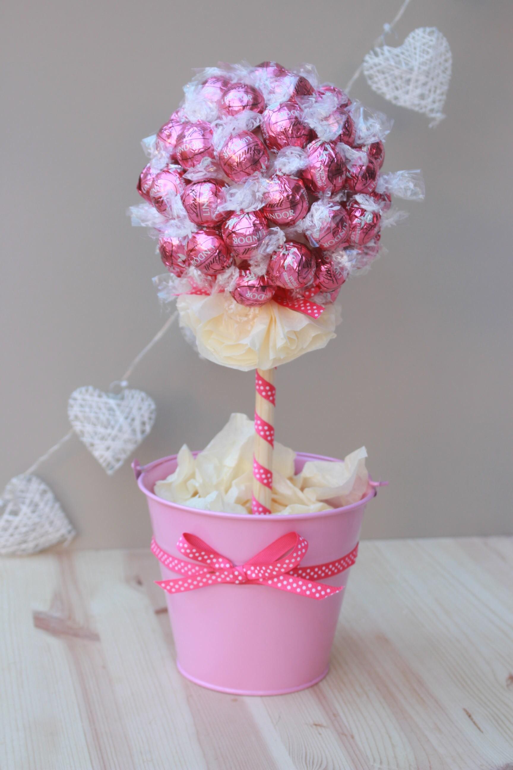 Sweet Tree Lindt Lindor Pink Lindt Chocolate Bouquet