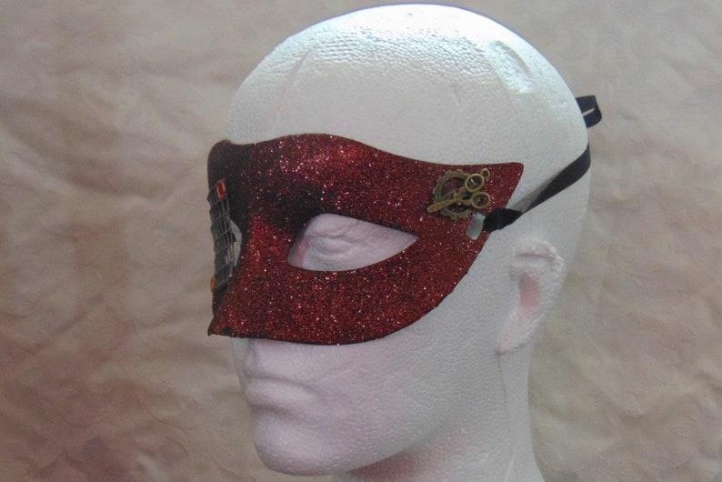 /'Sparkle Bronze Eye Grille/' Design Steampunk Style Masquerade Mask