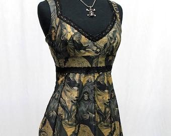 VINTAGE STYLE COCKTAIL Dress - Hellfire Print