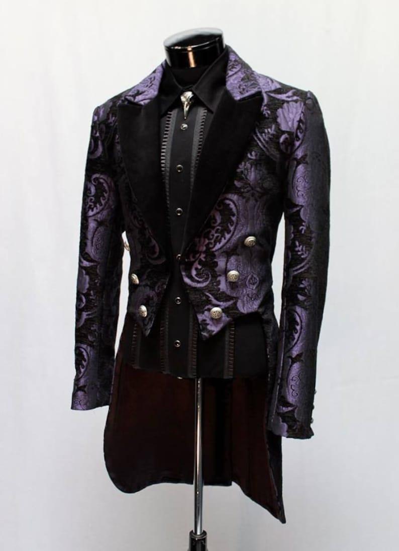 VICTORIAN TAILCOAT  Purple/Black Tapestry image 0