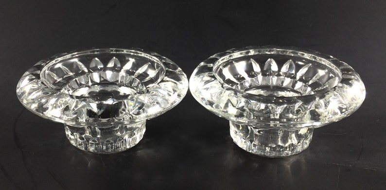 Firna Indonesia Clear Glass Candle Holders image 0