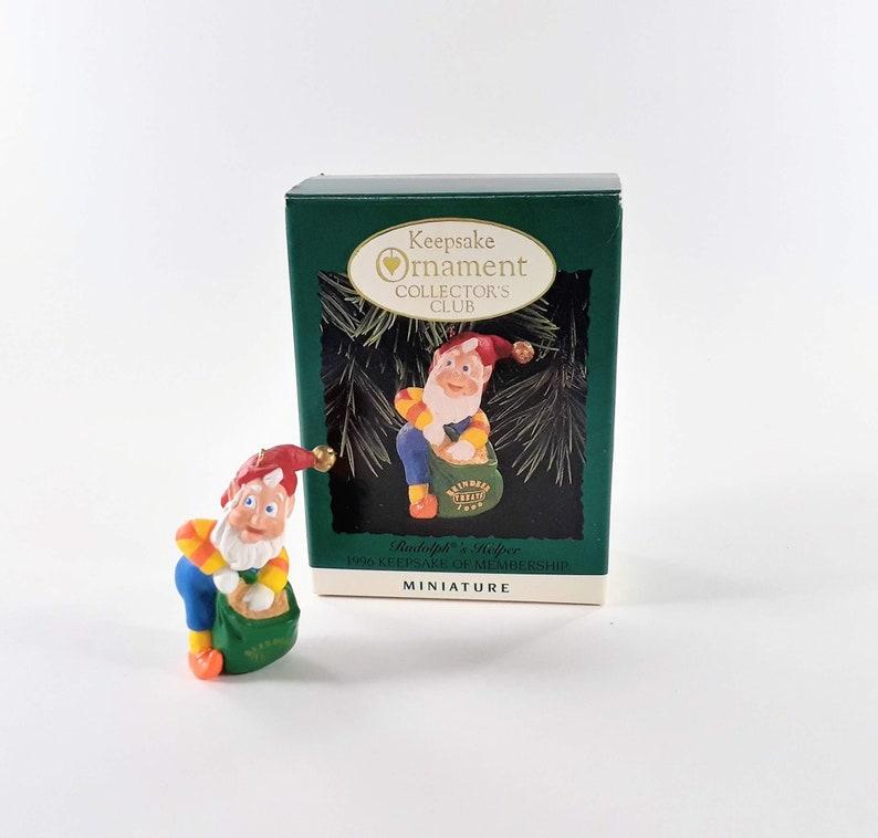 Hallmark Keepsake Christmas Ornament Miniature Rudolph Helper image 0
